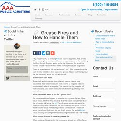 Grease Fires and How to Handle Them
