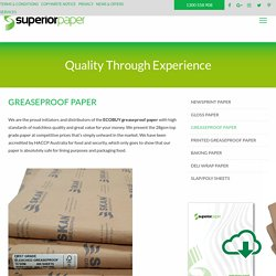 Top Rated Printed Greaseproof Paper Suppliers - Superior Paper