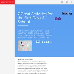7 Great Activities for the First Day of School