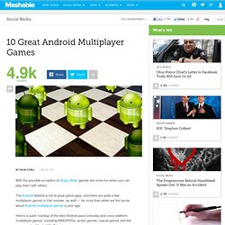 10 Great Android Multiplayer Games