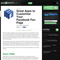 Great Apps to Customize Your Facebook Fan Page