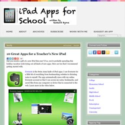 10 Great Apps for a Teacher's New iPad