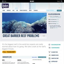 Great Barrier Reef Problems: 28/08/2018, Behind the News