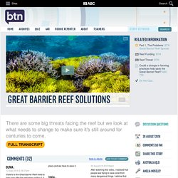 Great Barrier Reef Solutions: 28/08/2018, Behind the News
