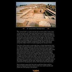 Grande salle de bain, Mohenjo-daro