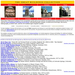 Great Buildings Online - Master Buildings List 2011.0227