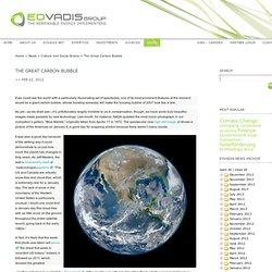 The Great Carbon Bubble – EoVadis Ltd