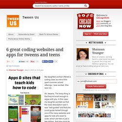 6 great coding websites and apps for tweens and teens