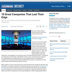 10 Great Companies That Lost Their Edge