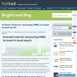 14 Great Stats to Convince SMBs to invest in local search
