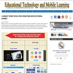4 Great Web Tools for Creating Educational Games