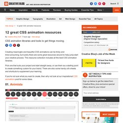 10 great CSS animation resources