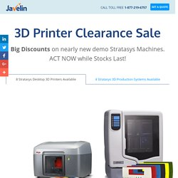 Get a Great Deal on a Demo Stratasys 3D Printer