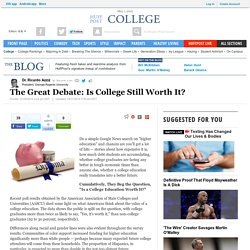 The Great Debate: Is College Still Worth It?