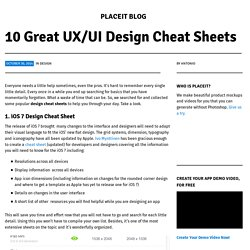 10 Great UX/UI Design Cheat Sheets