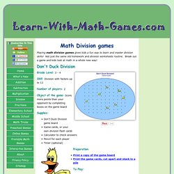 Great Math Division Games get Kids Excited About Math!