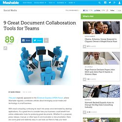 9 Great Document Collaboration Tools for Teams