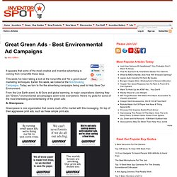 Great Green Ads - Best Environmental Ad Campaigns