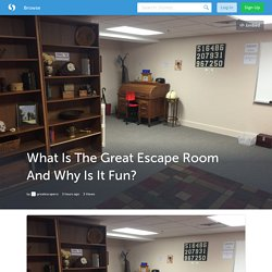 What Is The Great Escape Room And Why Is It Fun?