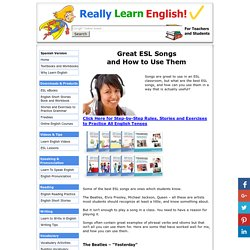 Great ESL Songs and How to Use Them