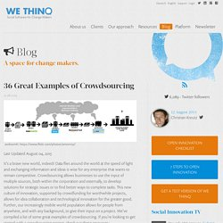 36 Great Examples of Crowdsourcing