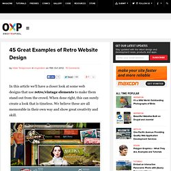 45 Great Examples of Retro Website Design