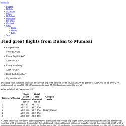 Find great flights from Dubai to Mumbai - Musafir