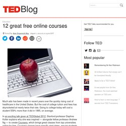 12 great free online courses