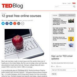 Blog | 12 great free online courses