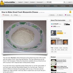 How to Make Great Fresh Mozzarella Cheese