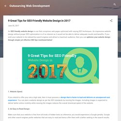 9 Great Tips for SEO Friendly Website Design in 2017