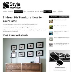 21 Great DIY Furniture Ideas for Your Home | Style Motivation