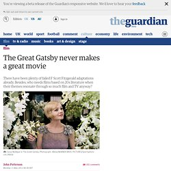 The Great Gatsby never makes a great movie