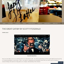 The Great Gatsby by Scott Fitzgerald