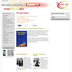 The Great Gatsby » The Great Gatsby Study Guide from Crossref-it.info
