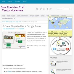 Cool Tools for 21st Century Learners