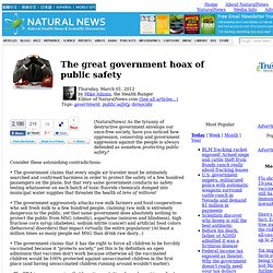 The great government hoax of public safety