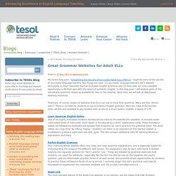 Great Grammar Websites for Adult ELLs