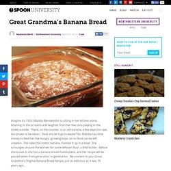 Great Grandma's Banana Bread
