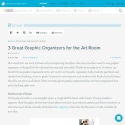 3 Great Graphic Organizers for the Art Room
