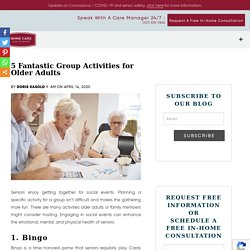 5 Great Group Activities for Seniors