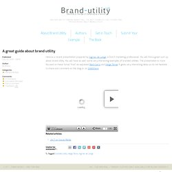 A great guide about brand utility