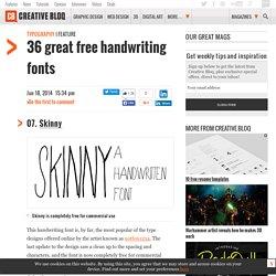 36 great free handwriting fonts