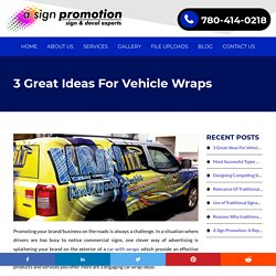 3 Great Ideas For Vehicle Wraps - Blog