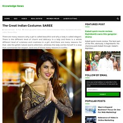 The Great Indian Costume:SAREE - Knowledge News