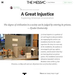 A Great Injustice — The Message