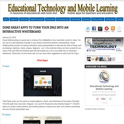 Some Great Apps to Turn your iPad Into An Interactive Whiteboard