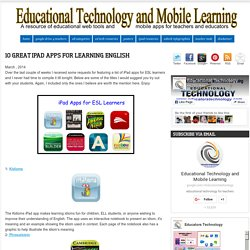 10 Great iPad Apps for Learning English