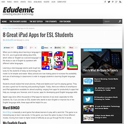 8 Great iPad Apps for ESL Students