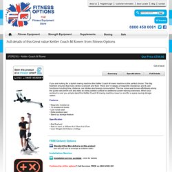 Great value Kettler Coach M Rower from Fitness Options